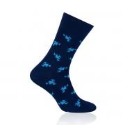 Férfi zokni Willsoor 6968 sötét kék szín