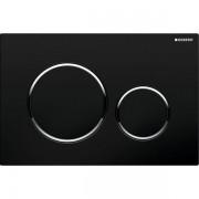 Geberit Sigma20 bedieningsplaat kleuren:plaat ring knop zwart chroom zwart 115882km1