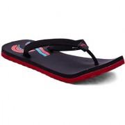 Puma Men's Red and Black Flip Flops