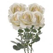 Geen 5x Creme witte rozen/roos kunstbloemen 37 cm