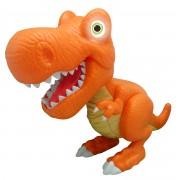 Figurina interactiva Dinozaur Junior T-Rex Cu Lumini Si Sunete - Portocaliu