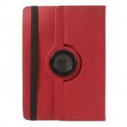Javu - Medion Lifetab P10341 Hoes - Rotatie Cover Denim Rood