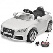 vidaXL Carro Audi TT RS para crianças com controlo remoto - branco