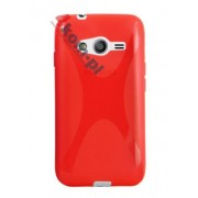 ETUI SILIKON X-SHAPE SAMSUNG Galaxy ACE NXT G313H Czerwona - Czerwony