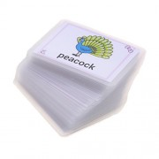 Phenovo Kids Alphabet Activity Playing Flash Cards Educational Learning Pocket Card - 80 Pieces Animal