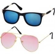 Freny Exim Aviator, Wayfarer Sunglasses(Blue, Pink)