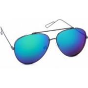 Stacle Aviator Sunglasses(Grey, Blue)