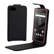Vertical Flip Magnetic Buckle PU Leather Case for Sony Xperia Z5 Compact / Z5 mini / E5803 / E5823(Black)