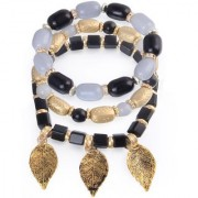 Om Jewells Stylish Multi Layer Charms Bracelet made with Exotic Beads for Girls and Women BR1000018BLK