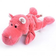 Lazada Cartoon Plush Hippo Hand Puppets Animal Toys for Pretend Play Pink