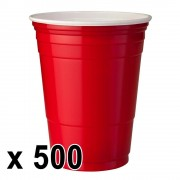 StudyShop 500 st. Red Cups Röda Muggar (16 Oz.)
