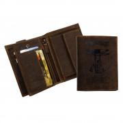 Vitruvian Man mintás bőr pénztárca - LandLeder - 268