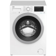 Masina de spalat rufe Beko WTV9636XS0, Capacitate 9 kg, 15 programe, Motor ProSmart, Clasa energetica A+++(-10%), 1200rpm, Display digital, Tehnologie SteamCure, HomeWhiz (conectivitate Bluetooth), Tambur AquaWave, Child lock, 60 cm, Alb