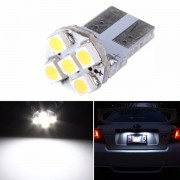 Meco T10 White 5-SMD 168 194 3528 LED Bulbs For Car License Plate Light