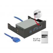 Delock 3.5 Inch / 5.25 Inch USB 3.0 Hub 4 Port