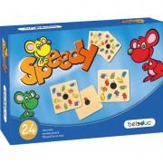 Joc Speedy Beleduc, 24 carduri din lemn, maxim 6 jucatori