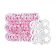 Invisibobble The Traceless Hair Ring sada gumičky do vlasů Original 3 ks Rose Muse + gumičky do vlasů Nano 3 ks Crystal Clear pro ženy