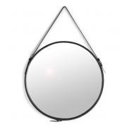 Elvis spegel D60cm svart PU inkl. krok