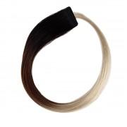 Rapunzel® Extensions Naturali Quick & Easy Original Liscio O1.2/99.6 Grey Black Brown Grey Ombre 50 cm