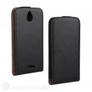 Кожен калъф flip за HTC Desire 510 - черен