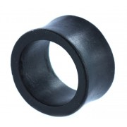 Double Flared Ebony Hout Tunnel - 28 mm