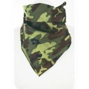 Bandana met camouflage opdruk in groentinten