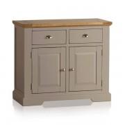 Oak Furnitureland Natural Solid Oak & Grey Paint Sideboards - Small Sideboard - St. Ives Range - Oak Furnitureland