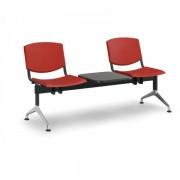Kovo Praktik Plastové lavice Design, 2-sedák + stolek červená
