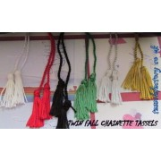"A5 Tassel with twin chainnette twin fall With Metal bead to adjust, size : Loop8.5"" Fall 2"""
