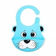 REGAL Cute Animals Silicone Baby Bibs Waterproof Baby Drool Bibs with Wide Pocket BPA-Free Easily Wipe Clean Cute Cart