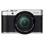 Fujifilm Systemkamera Fujifilm X-A10 Kit inkl. XC 16-50 mm Kit 16.3 MPix Svart/Silver WiFi, Full HD Video, Vrid-/svängbar display