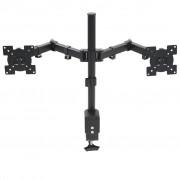 """vidaXL Stolový držiak na monitor 32"""", dve ramená, nastaviteľná výška"""