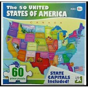 The 50 United States of America 60 Piece Puzzle - State Capitals Included (2009) by LPF