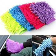 Microfiber Hand Gloves Duster for Home Office Kitchen Vehicle/Car Two Wheeler Cleaning-Pack of 4
