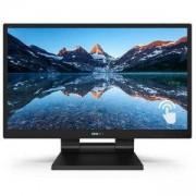 Монитор Philips 24 (23.8 инча/60.5 cm) LCD, SmoothTouch Full HD (1920 x 1080), 5 ms, черен, 242B9T