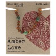Baltic Amber Children's Bracelet - Earth Love 14cm