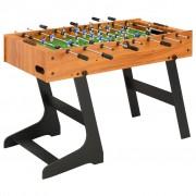 vidaXL Folding Football Table 121x61x80 cm Light Brown