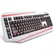 Клавиатура с подсветка DELUX DLK-9500 USB, Бяла, DLK-9500WH_VZ