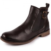 Fausto Men's Brown Leather High Ankle Outdoor Boots
