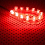 Tub flexibil LED Lamptron FlexLight Standard 12x LED Fire Red