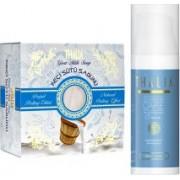Pachet ingrijire fata Thalia Natural Beauty Crema de fata antiacnee 50ml + Sapun pentru fata cu lapte de capra 150g