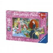 Ravensburger Disney Princess Puzzle 2x12 pezzi (07620)