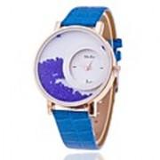Women Blue Wadding New Leather Dimond Dial Blue Girls watch