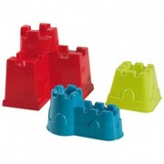 Set de 3 moules château/rempart en plastique