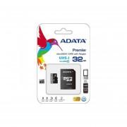Memoria ADATA MicroSD 32GB UHS-1 Clase 10 Incluye Adaptador SD AUSDH32GUICL10-RA1