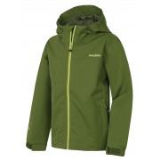 Husky Zunat Kids 134-140, tm.zelená Dětská outdoorová bunda