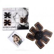 Centura electrostimulare EMS Six Pack abdominala Smart Fitness Pro negru + Cadou Casti telefon 4322
