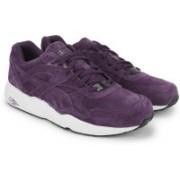 Puma R698 Allover Suede Men Mid Ankle Sneaker For Men(Black, Purple, White)