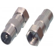 FC-029 IEC / F-adapter. F-connector to coax plug adapter.