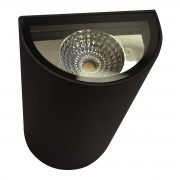Applique Mezzotubo Ora Ip54 700lm 2 Led 6w Colore Grigio Pressofusione Di Alluminio